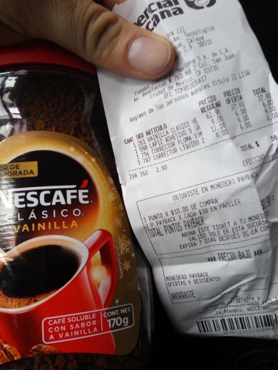 Comercial Mexicana: Nescafe vainilla 170 gr $37.90