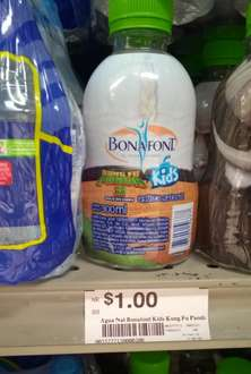 Chedraui: Agua Bonafont Kids Kung Fu Panda 300 ml. a $1