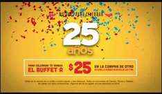 Sirloin Stockade: 2do buffet a $25 en la compra de un buffet a precio regular -Cancún,Toluca y Vallarta-
