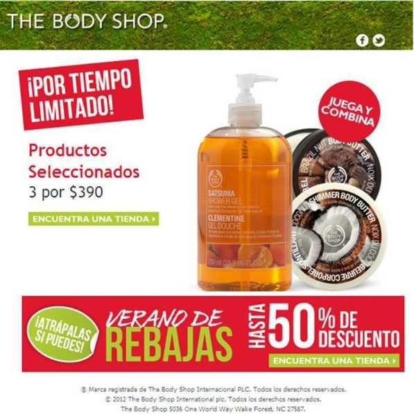 The Body Shop: rebajas de hasta 50% de descuento y más