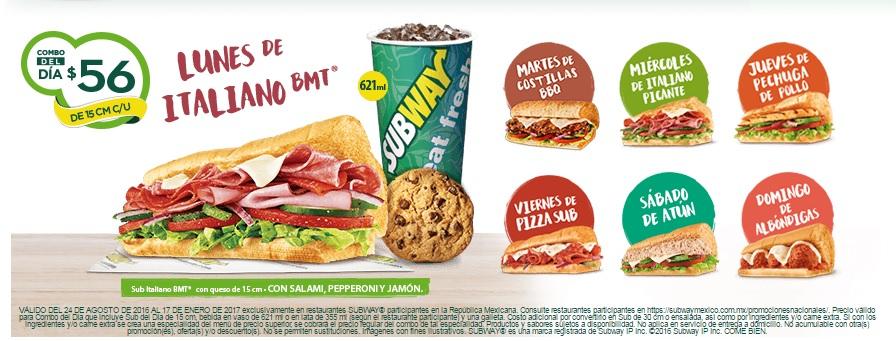 Subway: Nuevos combos del día a $56