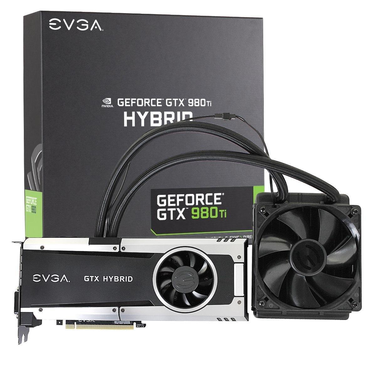 Amazon: tarjeta de video EVGA GeForce GTX 980ti Hybrid, 6 GB GDDR5