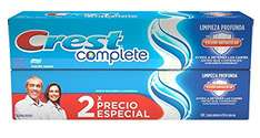 Amazon: Pasta dental Crest Complete 2 pack 150 ml a $25
