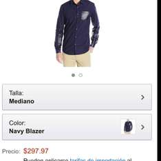 Amazon México Camisa Calvin Klein (disponible en azul y negro)