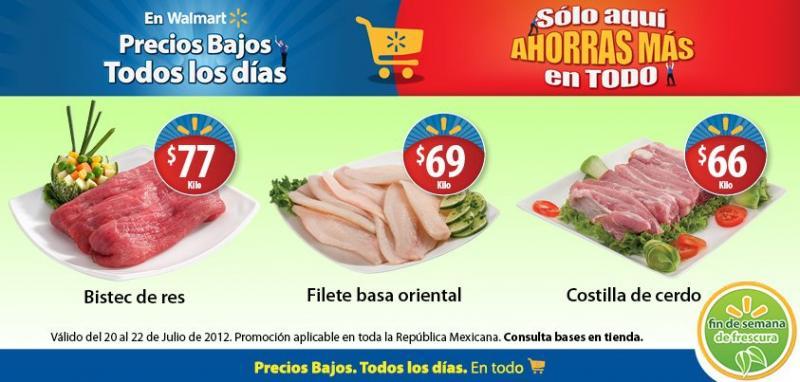 Fin de semana de frescura Walmart julio 20: costilla de cerdo $66 Kg y más