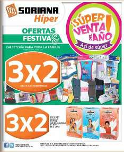 Folleto Soriana 20/07: 3x2 en calcetería, rastrillos desechables, preservativos Playboy y más