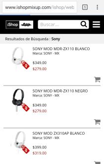 iShop: Audifonos y pilas portables con descuento marca SONY