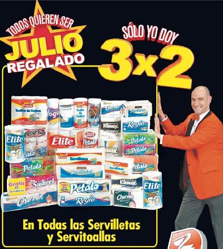Folleto Julio Regalado 20/07: 3x2 en servilletas, blanqueadores, 20% de descuento en tarjetas Cinemex y más