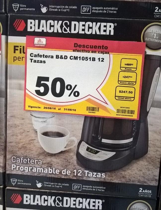 Chedraui: Cafetera programable para 12 tazas Black & Decker al 50%