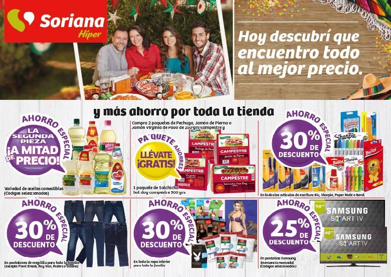 Soriana Híper y Súper: Ofertas de Fin de Semana del 26 al 29 de Agosto 2016.