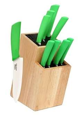 Amazon: 9 cuchillos de cerámica con base de madera en $780