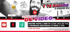 Virgin Mobile: 3 meses de streaming de vídeo gratis al realizar portabilidad