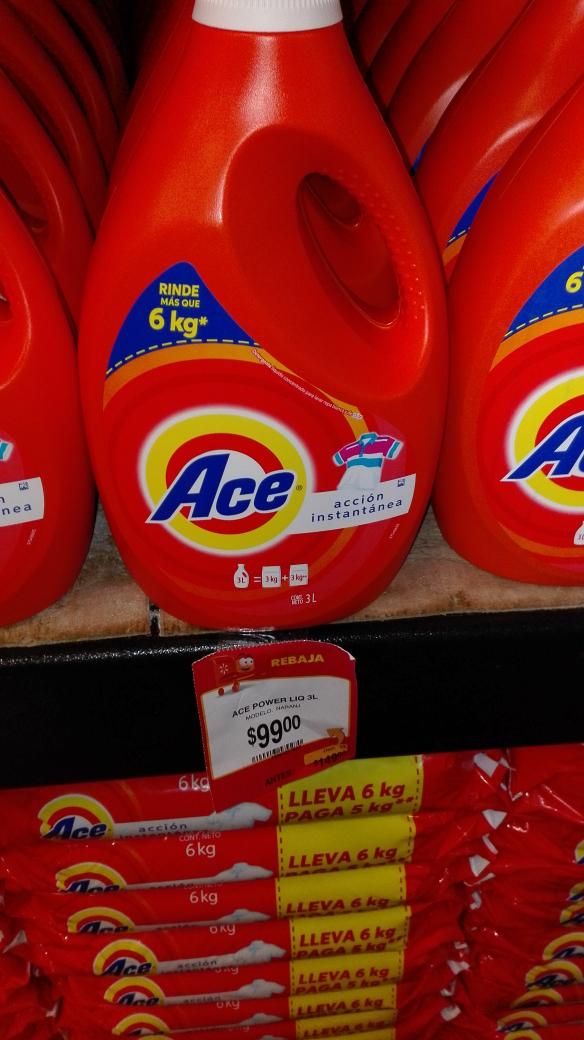 Amazon y Walmart: Ace líquido 3 litros a $99
