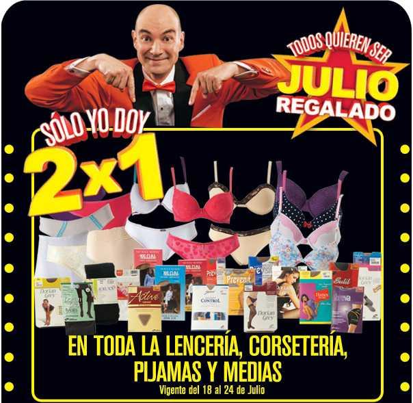 Julio Regalado julio 18: 2x1 en lencería, corsetería, medias y pijamas