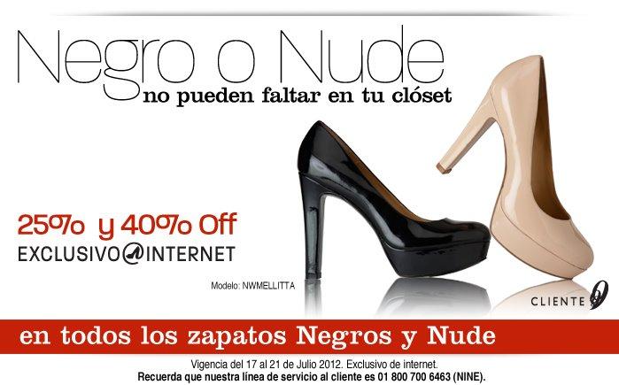 Nine West: del 25% al 40% de descuento en zapatos negros y nude