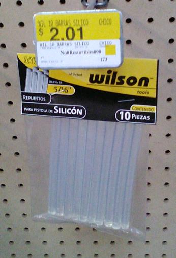 Walmart: 10 barras de silicon a $2.01