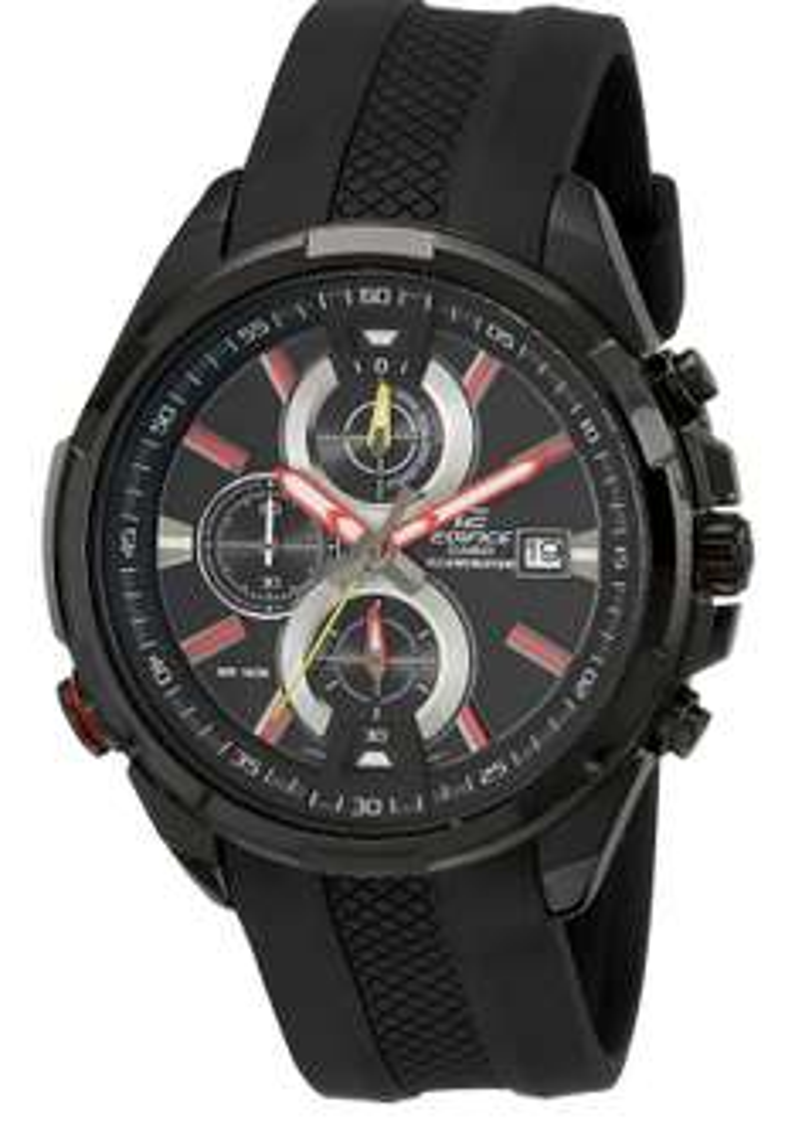 Amazon: Edifice EFR-536PB-1A3VEF Reloj Análogo, para Hombre, Redondo, color Negro