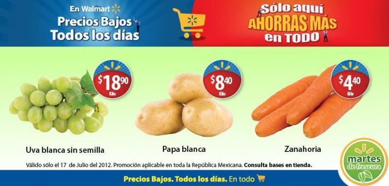 Martes de Frescura en Walmart julio 17: zanahoria $4.40, uva $18.90 y más
