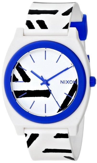 Amazon: Reloj Nixon Unisex Time Teller P White/Cobalt Watch a solo $385 pesos