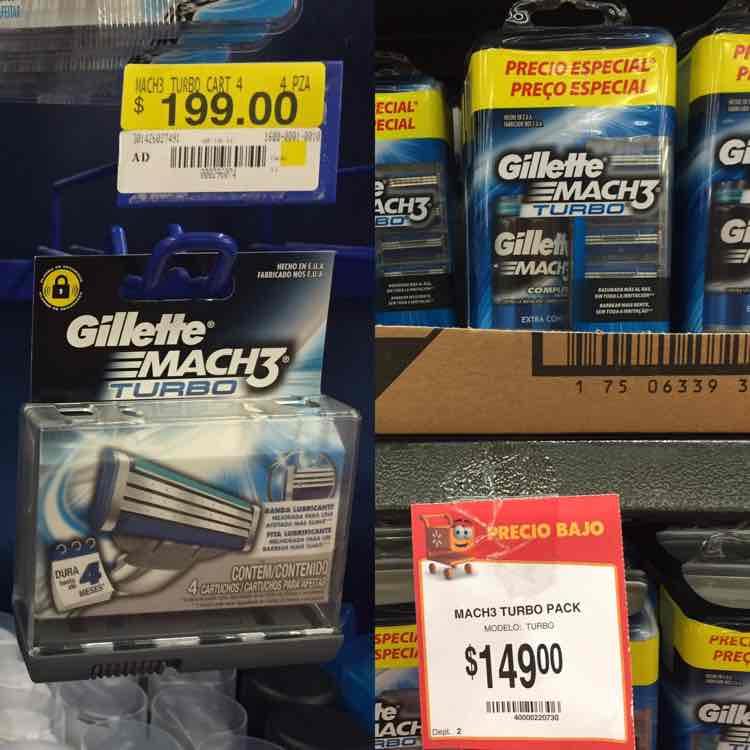 Walmart: Match 3 turbo con 4 de $199 a $149 incluye crema para afeitar