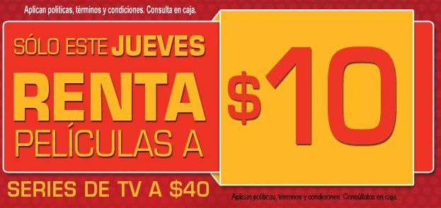 Blockbuster: rentas a $10 este jueves