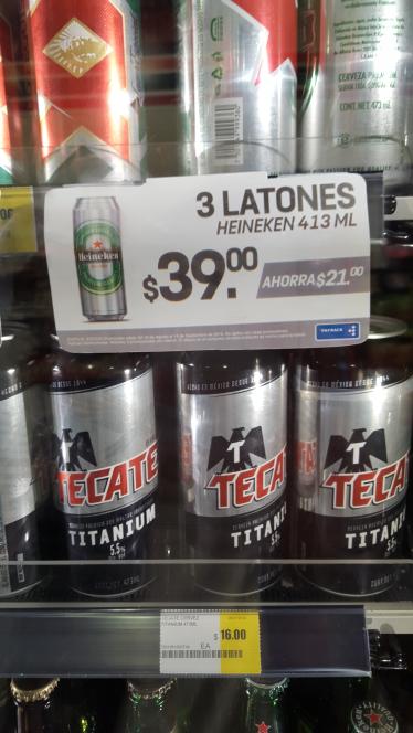 7 eleven: cerveza heineken 3 latones de 473ml