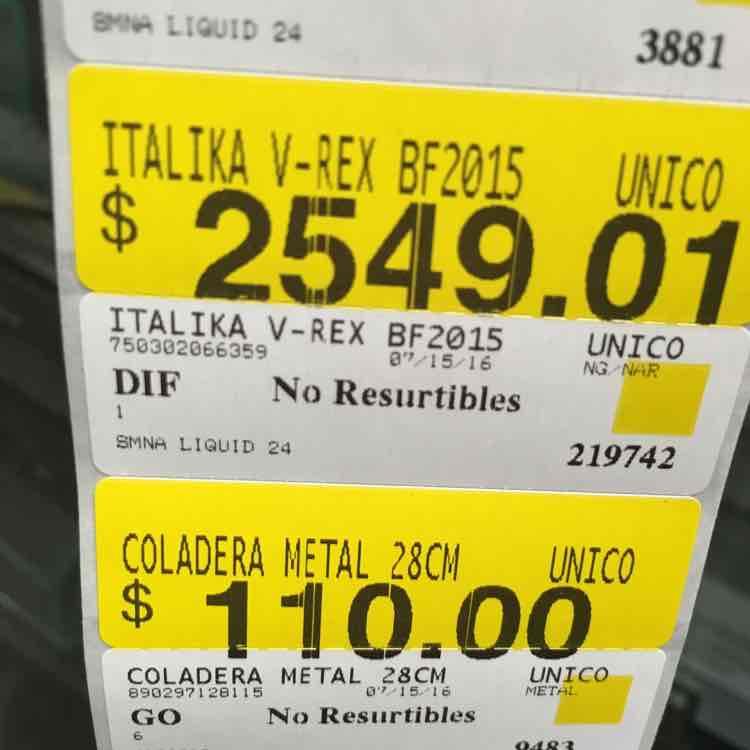 Bodega Aurrerá: Italika V-REX BF2015 a $2,549.01