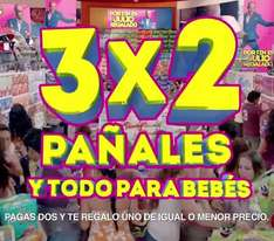 Ofertas de Julio Regalado en La Comer: 3x2 en pañales y todo para bebés