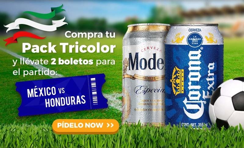 Modelonow: 30 cervezas y 2 boletos para México vs Honduras $399