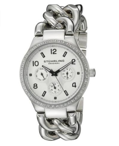 Amazon: Reloj Stuhrling plata para dama Vogue Renoir a $511