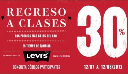 30% de descuento en jeans Levi's (varias tiendas)