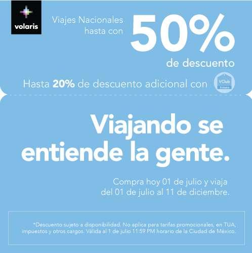Volaris: hasta 50% de descuento sólo hoy