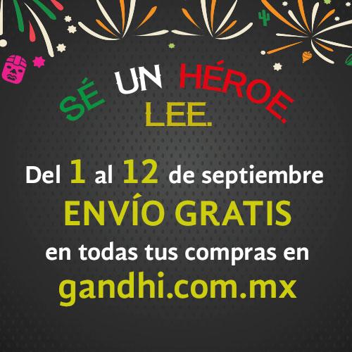 Librerías Gandhi: envío gratis del 1 al 12 de septiembre