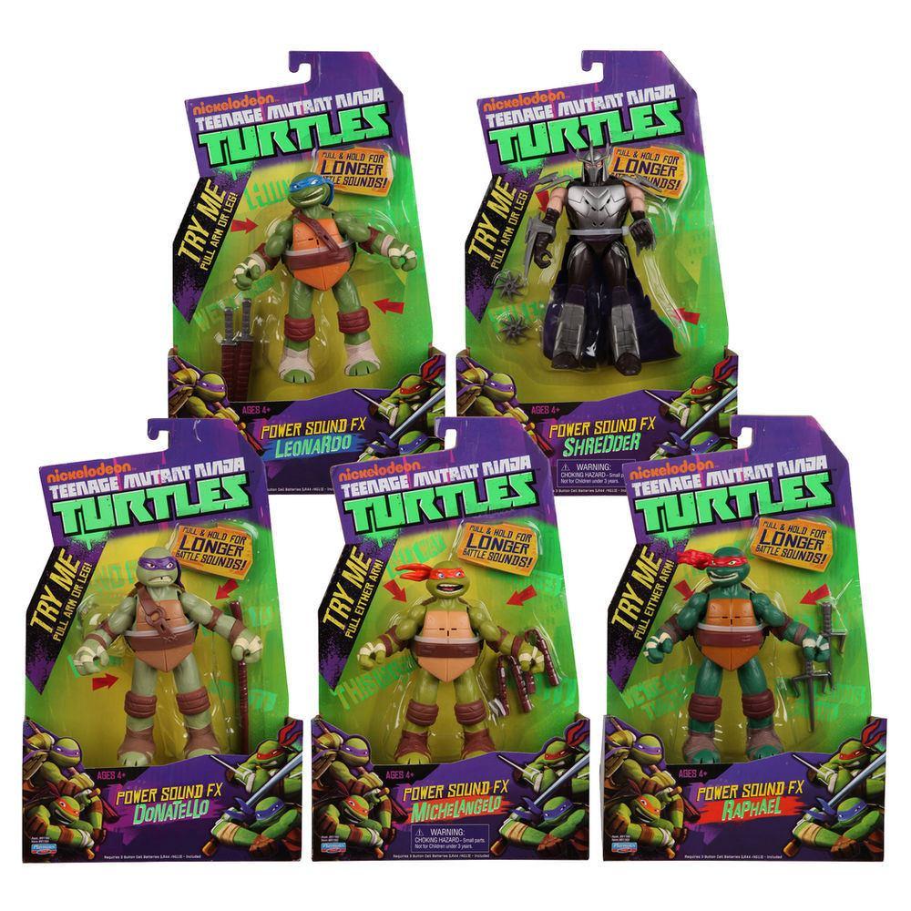 Walmart: figuras Teenage Mutant Ninja Turtles versión Power Sound