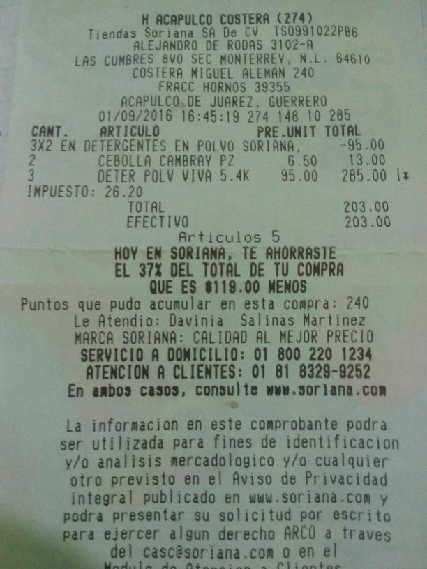 Soriana Hiper Acapulco: 3x2 en Detergentes