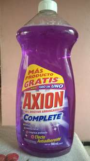 Chedraui: Axion Complete de 900 ml. a $2.30