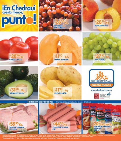 Miércoles frutas y verduras Chedraui julio 11: limón $3.70, chile $9.50 y más