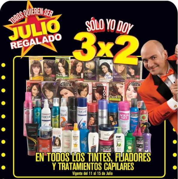Julio Regalado julio 11: 3x2 en tintes, fijadores y tratamientos capilares