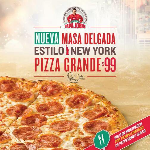 Papa John's: pizza grande a $99 por tiempo limitado