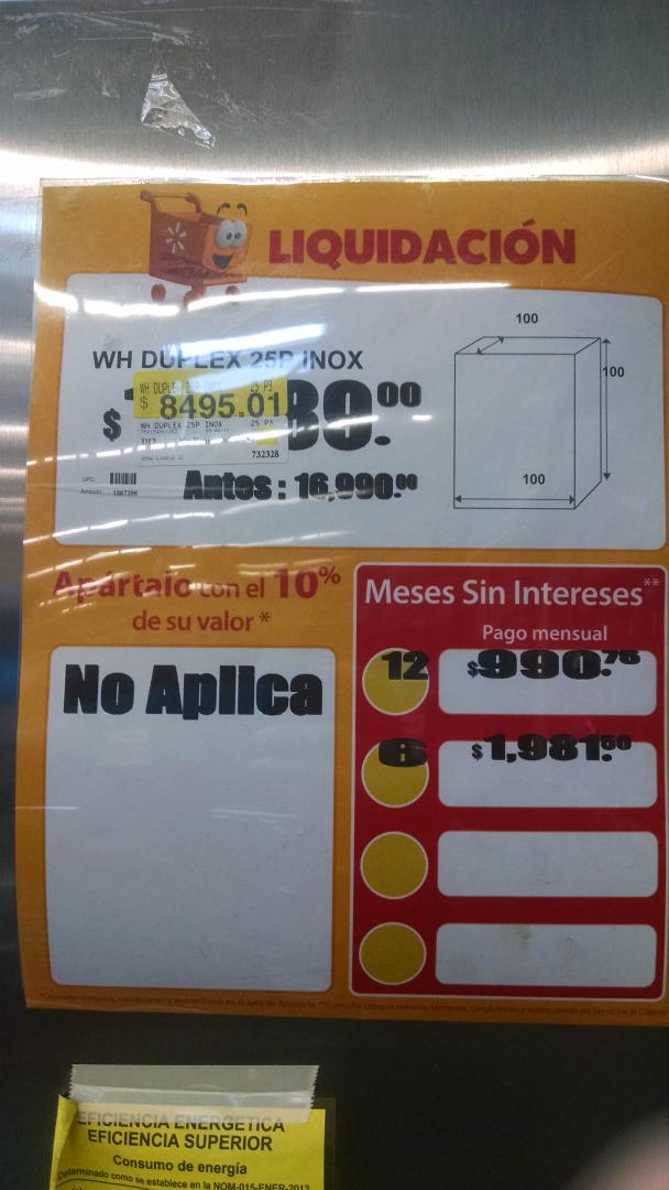 Walmart: Refrigerador WHIRLPOOL DUPLEX a $8,495.01