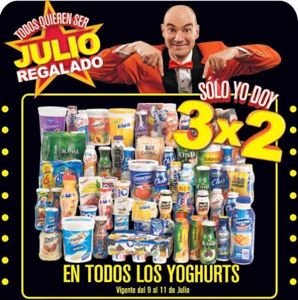 Julio Regalado julio 9: 3x2 en todos los yoghurts