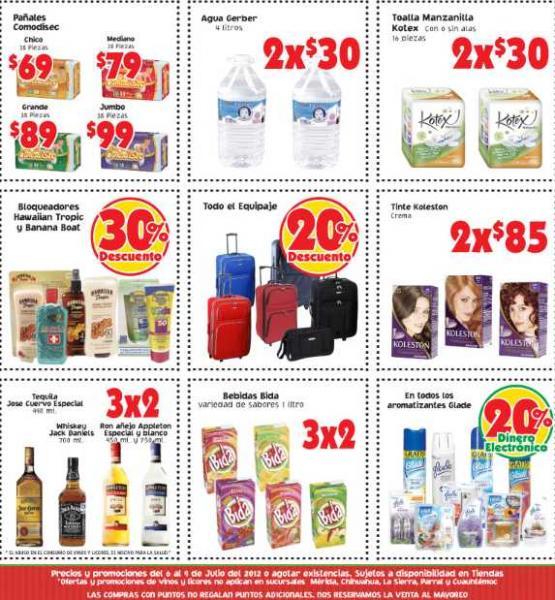 Mercado Soriana: 3x2 en algunos vinos y licores, 30% de descuento en algunos bloqueadores y más