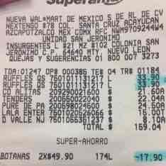 Superama San Jeronimo: Ruffles 2 x $49.90