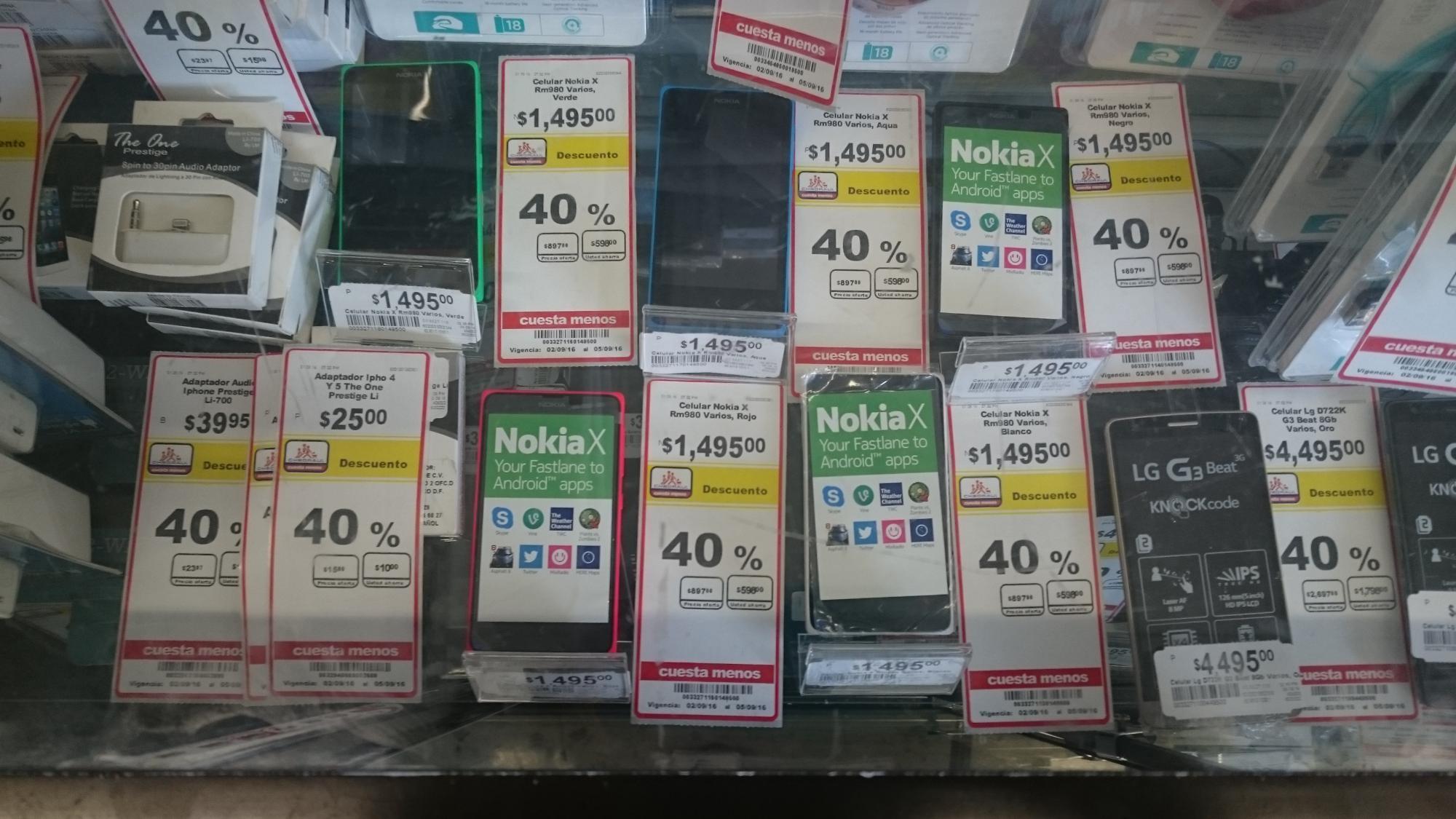 Chedradui Puebla CAPU: Nokia X RM980 $897, Bluray Philips BDP2205 $837 y muchos más artículos con el 40% de descuento directo.