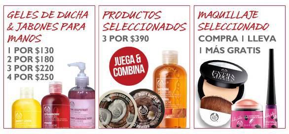 The Body Shop: 2x1 en maquillaje seleccionado, ofertas en geles de ducha y más