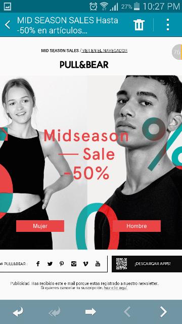 Pull&Bear: MidSeason Sale hasta -50% de descuento