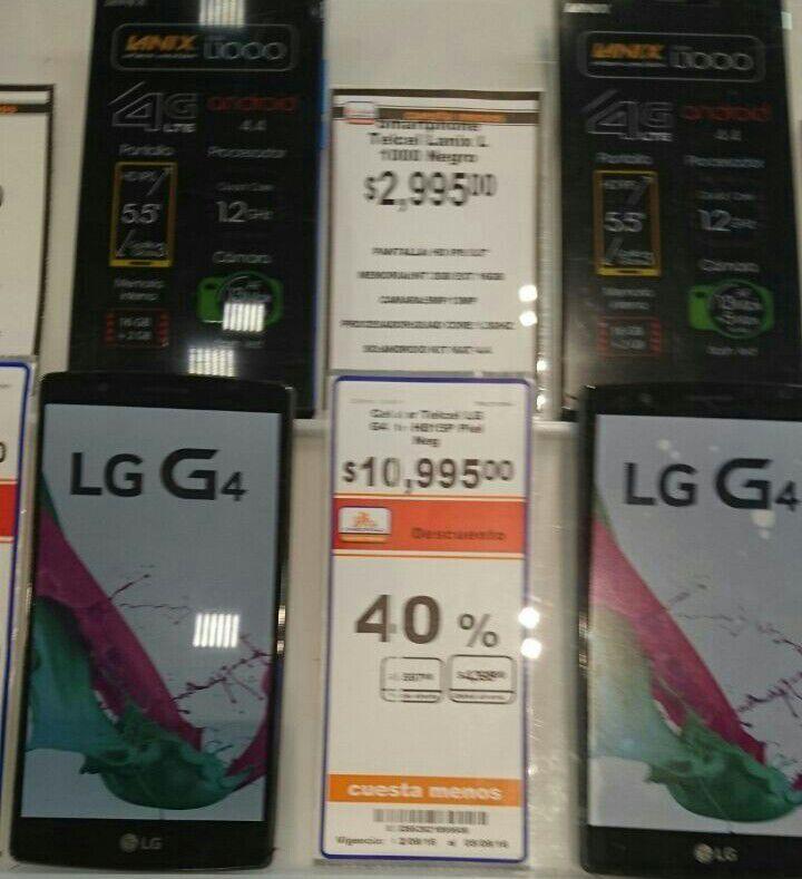 Chedraui Selecto: LG G4 de $10,995 a $6,597, Mega Blocks CoD Sniper a $39.90