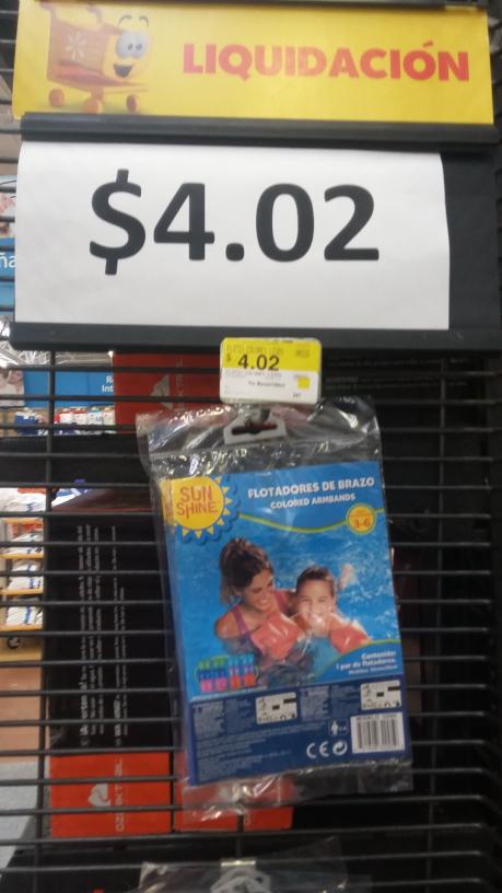 Walmart Santa Elena: flotadores para brazo a sólo $4.02