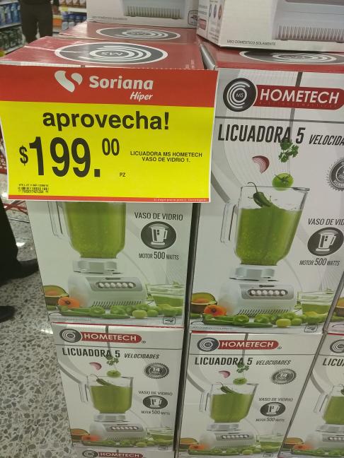 Soriana: licuadora de 5 velocidades Hometech a $199