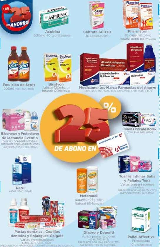 Farmacias del Ahorro 25 aniversario: 25% bonificación art. seleccionados